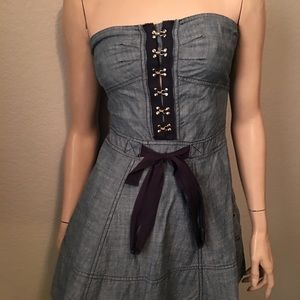 Juicy couture denim corset skort/skirt. Size 4